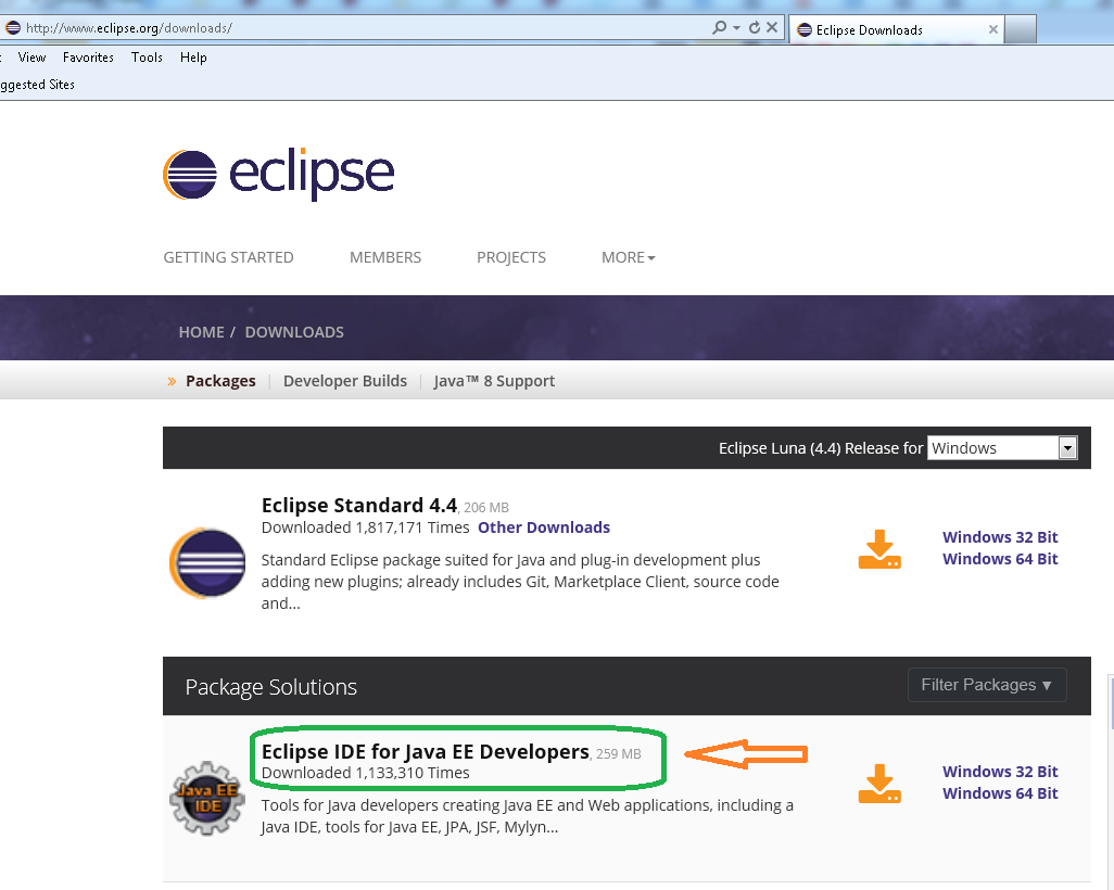 Eclipse download