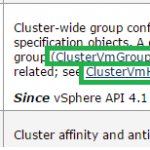 DRS rules PART I: How to create VM-Host affinity rules using vSphere API