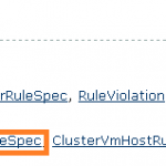 DRS rules PART II: How to create VM-VM affinity rules using vSphere API.